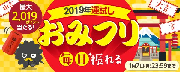 2019年運試しおみフリ